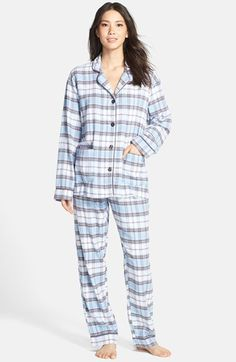 PJ Salvage Plaid Flannel Pajamas available at #Nordstrom