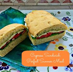 Caprese: Summer in a Sandwich - The Good Hearted Woman