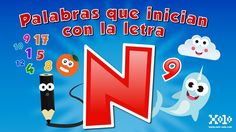 Words that start with the letter N in Spanish for children - Videos Aprende