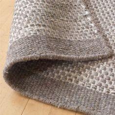 Asko Light Grey/Natural Wool Rug | Plain Rugs | Living Room | Heal's