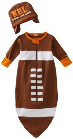 Amazon.com: Sozo Baby-boys Newborn Football Bunting and Cap Set, Brown, One Size: Clothing