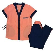 Regina Coral y Marino Medical Uniforms, Work Uniforms, Dental World, Nurse Costume, Work Attire, Scrubs, Nurse Life, Work Wear, Coral