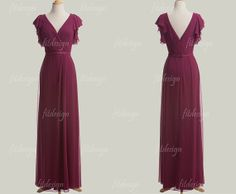 eggplant bridesmaid dress long bridesmaid dress by fitdesign, $119.00