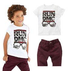 """""""Run DMC"""" Top   Maroon Pants Set"""