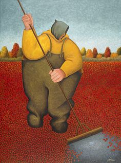 """Nantucket Cranberry Harvest"", Lowell Herrero, Acrylic on canvas, 48 x 36"" • 2008"
