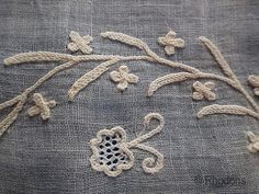 Antique Fichu - Tambour Lace Embrodery on Muslin - 19th century