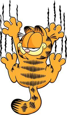 Garfield Easy Cartoon Drawings, Cartoon Art, Art Drawings, Garfield Cartoon, Garfield And Odie, Garfield Wallpaper, Cartoon Wallpaper, Classic Cartoon Characters, Classic Cartoons