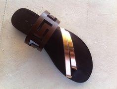 Meander sandals,ancient greek sandals,leather sandals,womens shoes,greek…