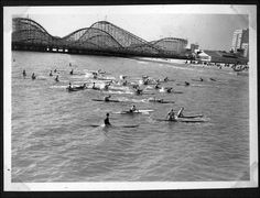 Back in the day when the Pike had a real roller coaster. Long Beach, CA -circa November Wish it was still there along with waves - The Shannon Jones Team Long Beach Pike, Long Beach California, California History, California Dreamin', Vintage California, City By The Sea, City Of Angels, Outdoor Photography