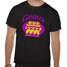 Geaux Purple and Gold Tees you can add names on web,  #football #Louisiana