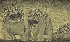 don kenn illustration 03 John Kenn: monster drawings drawn on post it notes Monster Art, Creepy Monster, Monster Drawing, Art And Illustration, Monster Illustration, Arte Post It, Post It Art, Arte Horror, Horror Art