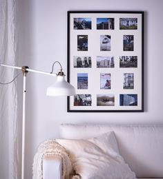 Easy tip for a great wall photo collage: start with pre-made photo frame sets like this RIBBA 15 frames in one from IKEA.