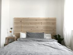 #bedroom #interior #minimal #nordic #scandinavian #wood #grey #white #ikea #plants #natural #minimalism #asket #cozy #nightstand #candle #diy #pine #headboard