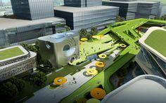 Southern Island of Creativity / Chengdu Urban Design Research Center,the sky street 01