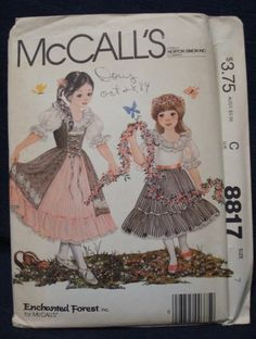 1980s McCall's 8817 Enchanted Forest Size 7 by kinseysue on Etsy, $12.00