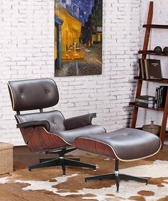 Another great find on #zulily! Dark Brown Ease Lounge Chair and Ottoman by Fine Mod Imports Inc. #zulilyfinds