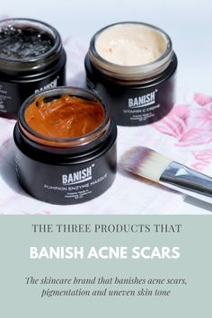 Want to know how to get rid of acne scars? Here are three products that help to reduce and remove acne scars and pigmentation and improve the texture and tone of the skin. Pumpkin Enzyme Mask, Vitamin C Cream, Congested Skin, Beauty Elixir, Acne Scar Removal, Remove Acne, How To Get Rid Of Acne, Uneven Skin Tone, Acne Scars