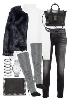 """""""Untitled #19302"""" by florencia95 ❤ liked on Polyvore featuring R13, Vanessa Bruno, 3.1 Phillip Lim, H&M, Giuseppe Zanotti, STELLA McCARTNEY, M.N.G and Marc by Marc Jacobs"""