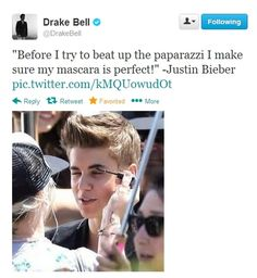 Here he is making fun of his mascara: | The 15 Best Drake Bell Comebacks