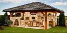 New backyard grill area outdoor pizza ovens 39 Ideas Outdoor Kitchen Patio, Outdoor Kitchen Design, Outdoor Rooms, Outdoor Living, Outdoor Kitchens, Backyard Patio Designs, Backyard Landscaping, Pergola Plans, Pool Houses