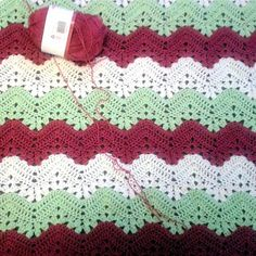 Interesting effect alternating styles. Free 6-Day Kid Blanket pattern by Beth Elliott, great take on afghan, free download.