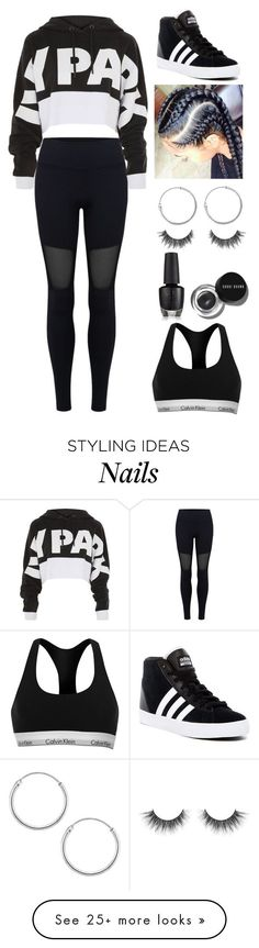 """Untitled #95"" by savannahortega on Polyvore featuring Varley, Topshop, adidas, Sevil Designs, Bobbi Brown Cosmetics and Calvin Klein"