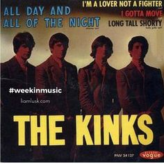 #weekinmusic #greatmusic From #1964 part of the #britishmusicinvasion the single #alldayandallnight by #thekinks - #rock #pop⠀Check out the #weekinmusic section of my blog at http://liamlusk.com/category/week-in-music/
