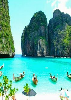 Phuket, Thailand, and other world's best islands. Also, chang mai and chang rai are great cities to visit. Also, Phi Phi Islands near Thiland - One of them was in the movie The Beach.