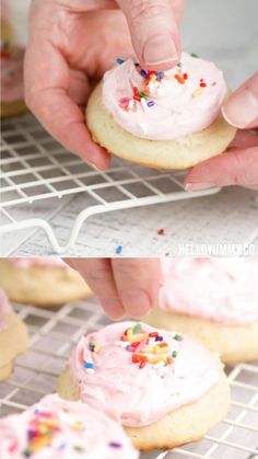 Soft Vanilla Sugar Cookie Recipe These delicious soft Vanilla Sugar Cookies taste like store-bought but way better because they're homemade! Get the recipe and easy vanilla buttercream recipe. Vanilla Cookie Recipe, Soft Cookie Recipe, Vanilla Cookies, Vanilla Sugar, Cookie Recipes, Dessert Recipes, Desserts, Sugar Sugar, Pumpkin Sugar Cookies