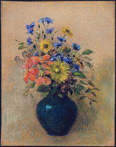 Wildflowers, 1905. Odilon Redon (1840-1916)