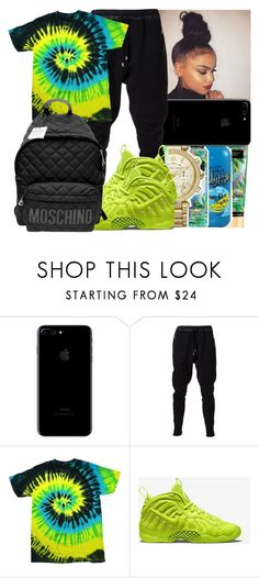 """""""Untitled #248"""" by issaxmonea ❤ liked on Polyvore featuring UNCONDITIONAL, Colortone, NIKE and Moschino"""