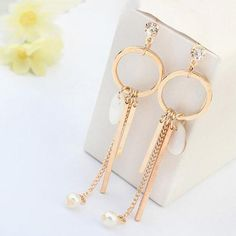 Long Tassel Hanging Earrings
