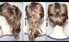 Bow & Ponytail Fusion Updo