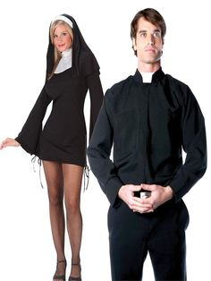 Nun and Priest Couples Costume available at Teezerscostumes.com