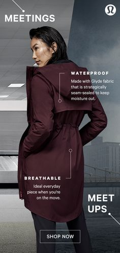 Introducing the new Rain Rules Jacket. From meetings to meet-ups, this breathable, waterproof layer will help you arrive dry. New Wardrobe, Swagg, Fashion Outfits, Fashion Tips, Passion For Fashion, Casual Wear, What To Wear, Style Me, Winter Fashion