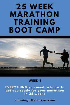 25 Week Marathon Training Boot Camp: Week 1 - Running after Lukas