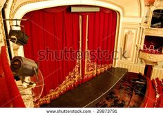 Opera House Interior - Stage View From the Top Balcony - stock photo