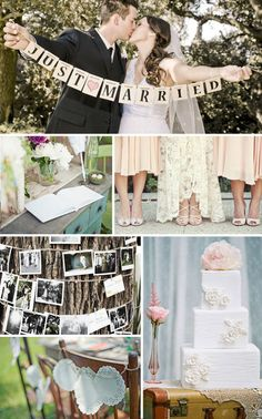 Vintage Wedding Inspiration by The Inspired Bride.