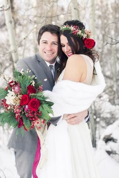 The Perfect Palette: Snowy Winter Wedding Inspiration In Lake Tahoe