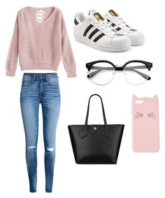 """""""Casual School Day Outfit #21"""" by seragart on Polyvore featuring H&M, adidas Originals, Anne Klein and Charlotte Russe"""
