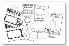 Livret d´activités autour du prénom Petite Section, Grande Section, Full Day Kindergarten, Montessori, Alphabet, Classroom, Teaching, 2eme, Notebook