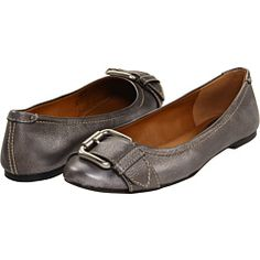 Fossil Maddox flat in gunmetal leather - zappos - great neutral!