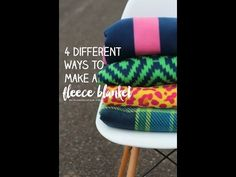 A GIRL AND A GLUE GUN...Everything you ever wanted to know about making fleece blankets! | A girl and a glue gun