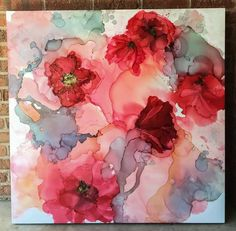 Amanda Moody. Alcohol Ink Painting