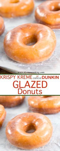 Dunkin Donuts Glazed Donuts Recipe (Copycat) krispy-lreme-dunkin-donuts-copycat-glazed-donut-recipe-alyonascooking- The post Dunkin Donuts Glazed Donuts Recipe (Copycat) & DONUTS appeared first on Essen und trinken . Dunkin' Donuts, Dunkin Donuts Recipe, Donut Glaze Recipes, Glazed Doughnut Recipe, Copycat Krispy Kreme Donut Recipe, Fried Cake Donut Recipe, Doughnut Dough Recipe, Deep Fried Donuts, Donut Cakes