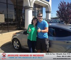Thank you to Kelsey Paget on your new 2013 Hyundai Elantra from Jerry Michalak and everyone at Absolute Hyundai!