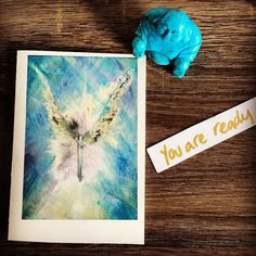 You Are Ready. It must be true - the card says so  Sending you love encouragement strength support and faith today - soak it up and use it to see you through any doubts or fear that are stopping you from doing the thing you really want to do. It's time - you are enough and you are ready  Thanks to the wonderful Alison Knox for this beautiful Angel card  #YouveGotThis