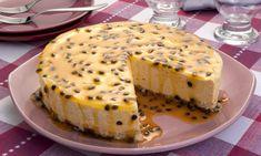 Torta-musse de maracujá