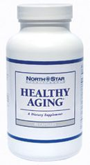 "Healthy Aging combines vitamins with antioxidants and plant extracts to rejuvenate the body from inside out, improve the health of your heart, maintain blood sugar levels within the normal range and enhance memory powers. Some benefits marketed by the manufacturer Northstar Nutritionals are: recharging your brain's ""batteries"" to keep your mental energy flowing, promoting strong muscles and healthy coordination, supporting heart and arteries."