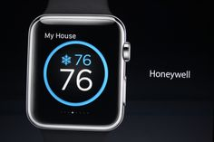 Honeywell Home Heating System application on the Apple Watch